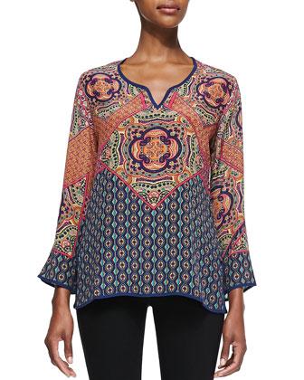 Lilah Silk Print Tunic