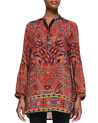 Ellie Long Printed Tunic, Women's