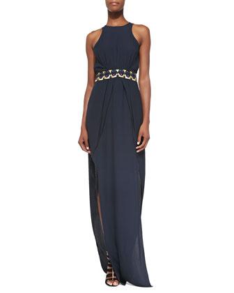 Back Page Jersey Maxi Dress