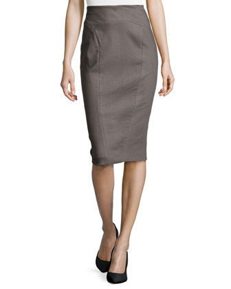 High-Waisted Pencil Skirt, Flint