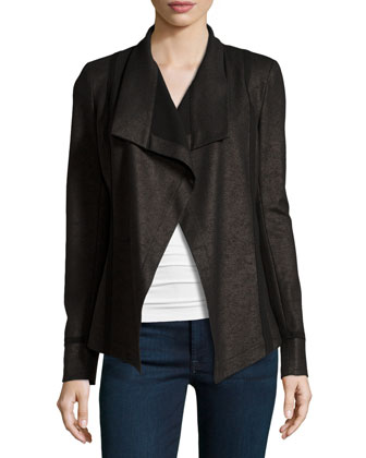 Solid-Trim Open Jacket