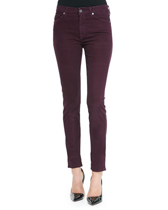 Sateen Skinny Pants