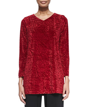 Diamond Crush Velvet Tunic
