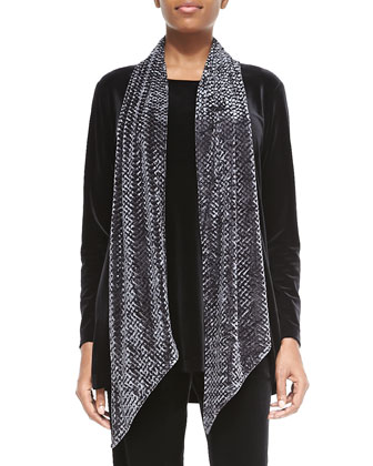 Long-Sleeve Velvet Tunic, Stretch Velvet Pants & Diamond Crush Velvet Scarf
