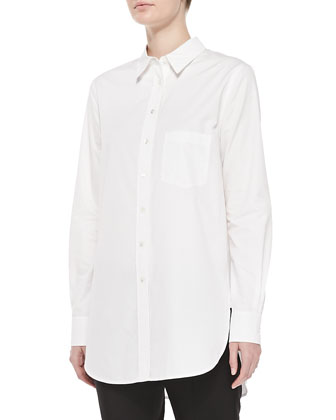 Long-Sleeve Button-down Tunic