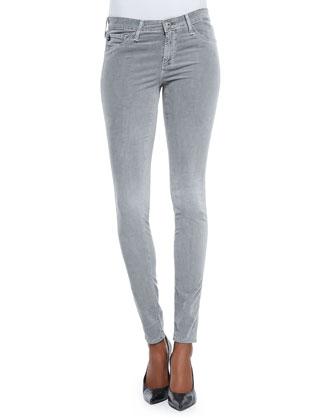 Velvet-Soft Corduroy Skinny Pants