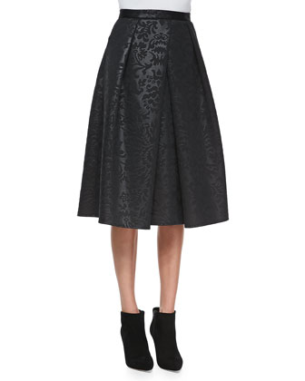 Foret Pleated Jacquard Skirt