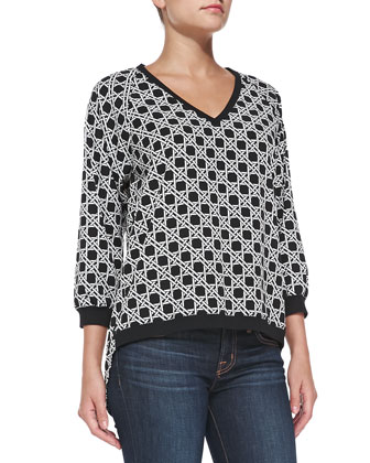Sequoia Cane Weave-Print Top