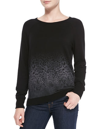 Annora Ombre-Pattern Knit Sweater