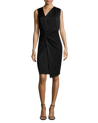 Twist-Knotted Asymmetric Dress, Black