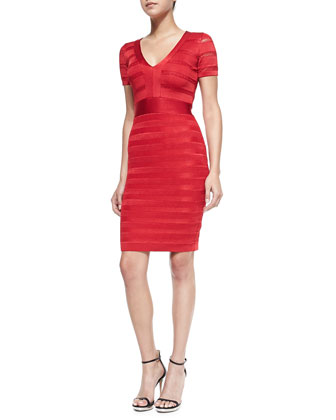 Summer Spotlight Bandage Dress, Royal Scarlet
