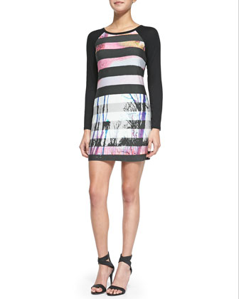 Montecito Striped Street-Print Dress
