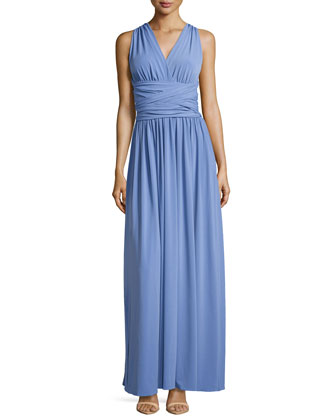 Sleeveless Gown with Back Tie Detail