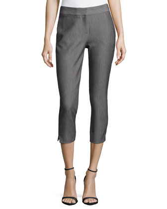 Slim Ankle Pants, Dark Heather Gray