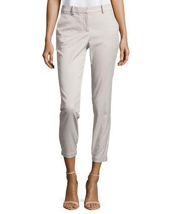 Slim Twill Ankle Pants