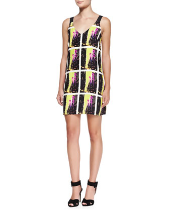 Kennedy Sleeveless City Photo-Print Dress