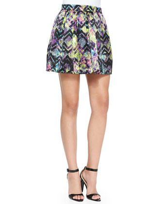 Lincoln Bright Zigzag Pleated Skirt