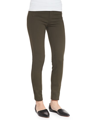 Seamed Cropped Ponte Leggings, Foliage