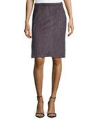 Ultrasuede® Slit Pencil Skirt, Charcoal