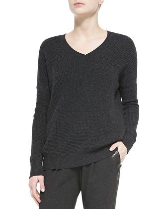 Thermal Double V-Neck Sweater