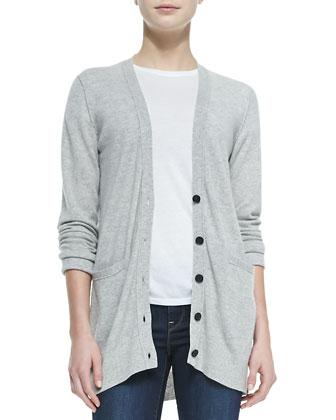 Cashmere V-Neck Cardigan, Basic Tee & Dylan Skinny Jeans