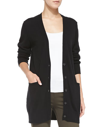 Cashmere V-Neck Button-Front Cardigan