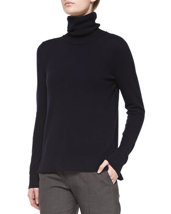 Cashmere Turtleneck Sweater, Coastal