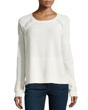 Wool Lace Sweater, Chalk