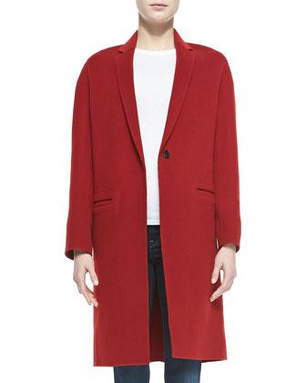 Felt Modern Coat, Claret