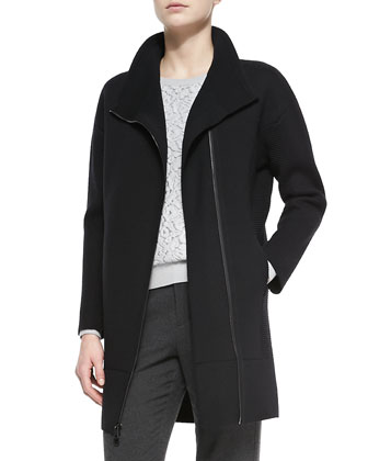 Scuba Wool Sweater Coat