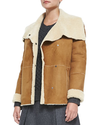 Bi-Tone Lamb Shearling Jacket