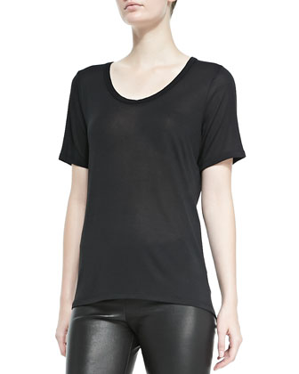 Knit Scoop-Neck Tee