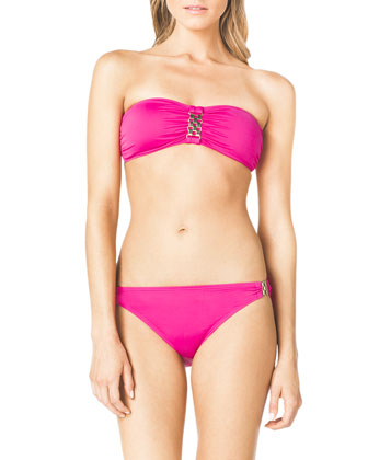 Bandeau Bikini Top with Hardware