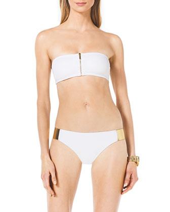Bandeau Bikini with Hardware