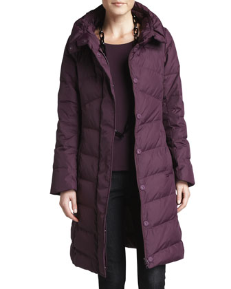 Puffer Weather-Resistant Coat, Jersey Long-Sleeve Top & Slim Stretch Ankle ...