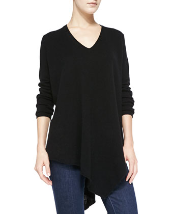 Tambrel V-Neck Asymmetric-Hem Sweater