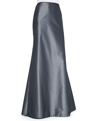 Long-Sleeve Lace Illusion Top & Mermaid Ball Skirt