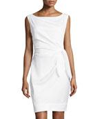New Della Tie-Waist Dress, White