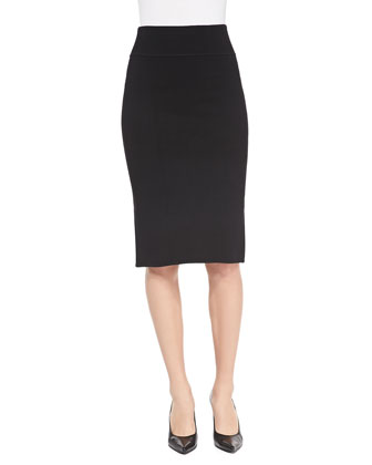 Dense-Knit Pencil Skirt