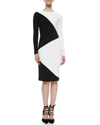 Mika Diagonal Pencil Dress