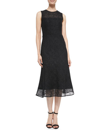 Tara Sleeveless Bonded Lace Dress