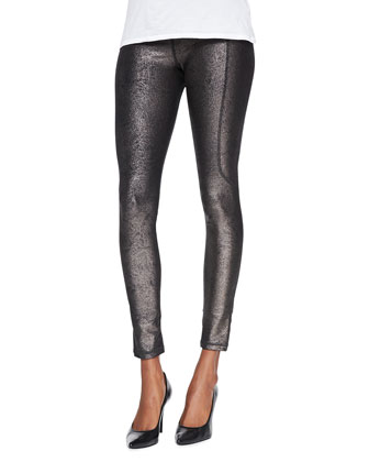 Relev?? Metallic Elliptical-Seam Leggings