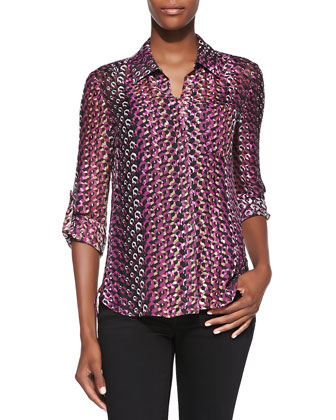 Lorelei Two Printed Button-Down Blouse
