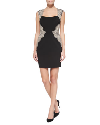 Shelby Sheath Dress with Lace Sides