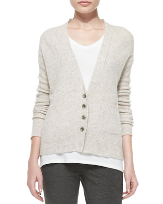 V-Neck Knit Cardigan