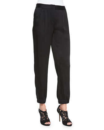 relaxed cinched-cuff pants