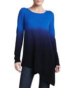Ombre Cashmere Asymmetric Tunic