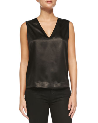 Riley Sleeveless Snake Print-Front Top