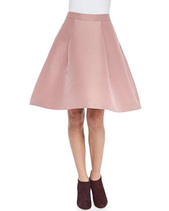 pleated full flared skirt