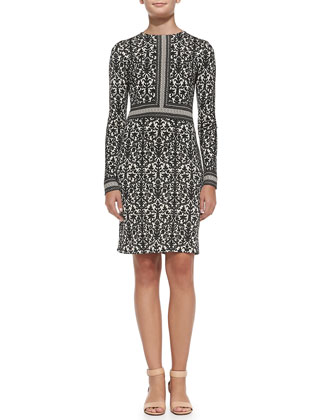 Deborah Printed Silk Dress